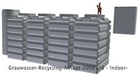 Grauwasser-Recycling-Anlage 2000 l/d - indoor-