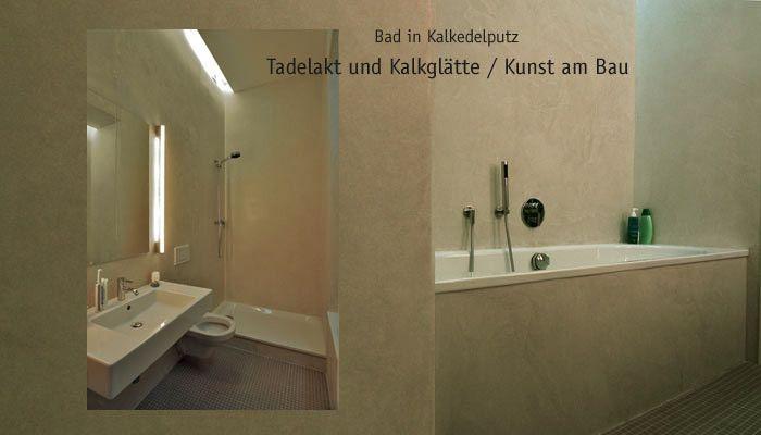 Tadelakt kalkglätte bad und dusche