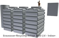Grauwasser-Recycling-Anlage 1500 l/d - indoor-