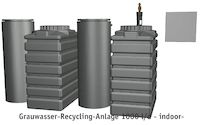 Grauwasser-Recycling-Anlage 1000 l/d - indoor-
